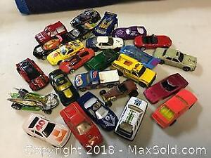 Lot Of 25 Diecast Cars Newer And Old.