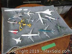 Vintage Collection Of Metal Airplanes A