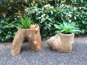 Handcrafted Hollow Log Pots / Planter Boxes East Maitland Maitland Area Preview