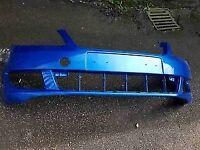 Genuine SKODA FABIA FRONT bumper (BLUE)