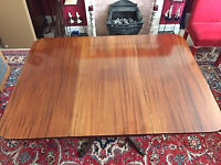Mahogany Folding Dining Table - Used but in very good condition