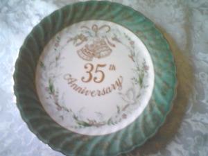 35 th Wedding Anniversary Plate