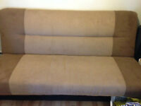 Two-tone Suede Couch