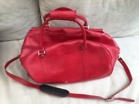 Weekend bag - red leather