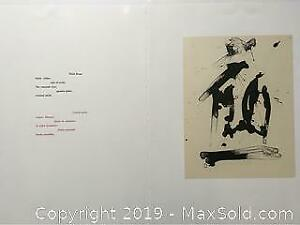 Robert Motherwell Original Lithograph printed in Black. 1987-1988
