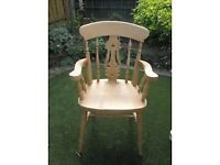 2 x solid pine chairs