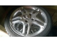 Momo italia alloy wheels 215/40/16, yokohama tyres, very clean. Fit ford, possibly others