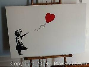 Banksy Balloon Girl Oil On Canvas