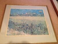 Van Gogh 'Field of Irises' - large framed colour print