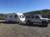 Luxury 4, 5 & 6 Berth Touring Caravans available to hire - weekends/holidays/shows/events
