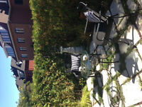 Patio - Bistro set, 2 chairs & table, excellent condition $ 175.