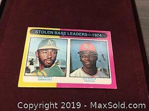 Vintage 1975 Stolen Base Leaders Baseball Card