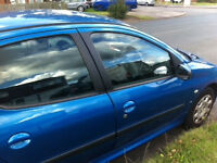 2005 Peugeot 206 PARTS 4 SALE Good condition, parts available - exhaust, doors, tyres, window, wings