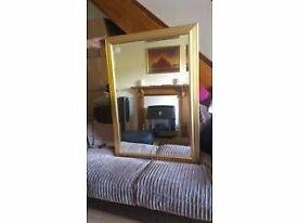 Beautiful ornate gold bevel edged framed mirror - Morris Mirrors