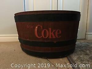 Coca Cola Ice Chest/Planter -C