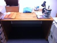 Pine desk and Matching Filing Cabinet