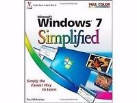 "BOOK - ""Windows 7 Simplified "" complete and in excellent condition."