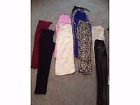 Selection of 9 pairs of ladies trousers size 8/10 River Island French connection Primark