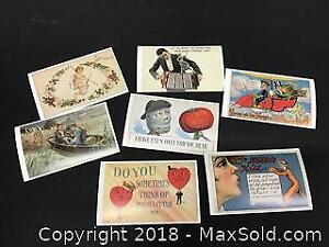 lot of Valentines Day postcards