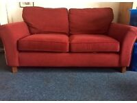 2 SEATER FABRIC SOFA - GOOD CONDITION, NO TEARS - £60