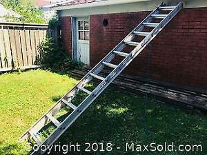 Sixteen Foot Aluminum Extension Ladder