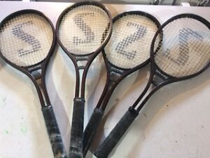 FOUR SPALDING TENNIS RACKETS BRAND NEW (3)
