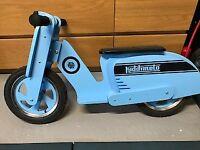 KIDDIMOTO Blue Scooter Wooden Balance Bike - Good Condition