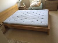 Ikea king size bed.