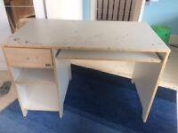 White Ikea Computer Desk