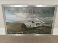 Suede Sci-Fi Lullabies framed poster
