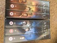 ANGEL series VHS boxsets. Season 1 episodes 1-22, Season 3 episodes 1-22, Season 4 episodes 1-11.