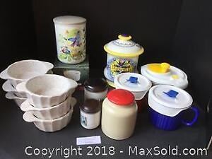Misc Jar And Dish Lot