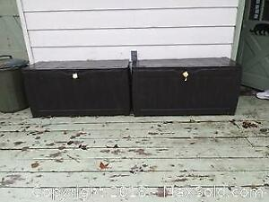 Deck Boxes And Garbage Can B