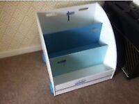 Vertbaudet Mobile Bookcase / Toy Storage Campervan Design Good Condition