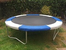 10 foot (3 meter) trampoline. Ideal for kids and adults alike