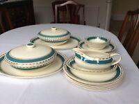 Vintage Crown Ducal Half Dinner Service. Attractive 'Warwick' design.
