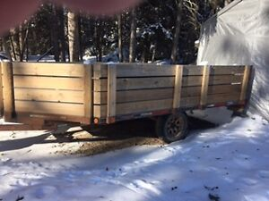 1997 Rainbow Double Wide Deck Snowmobile Trailer With Sides