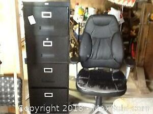 Filing Cabinet With Chair