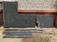 Granite kitchen worktop taken off 1000x600 units. African Grey in colour.