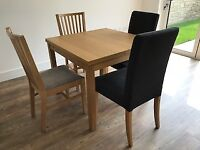 IKEA Dining Table and 4 chairs (extendable)