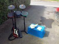 X Box Band & Guitar Hero