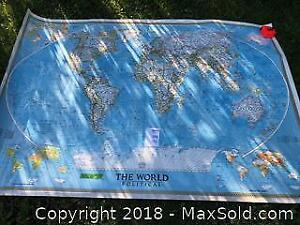 XL Vinyl national Geographic wall map A