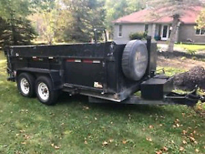 2012 Miska dump trailer with side door