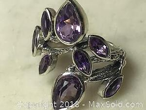 4.40 ct Natural Amethyst Ring with COA