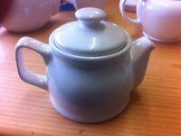 White teapots