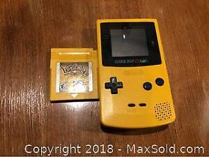 Game Boy Color With Pokemon Special Pikachu Edition