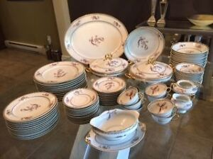 Limoges France Elite Works Bird of Paradise China set