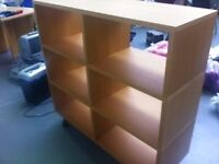 Wooden cabinet/shelving unit in very good condition