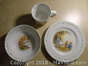 3 Piece Collection of Peter Rabbit by Wedgwood