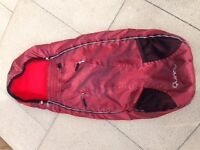 Quinny Buzz /zapp Footmuff / Cosy toes / Cacoon In Red Reflection